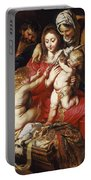 The Holy Family With St Elizabeth St John And A Dove Portable Battery Charger