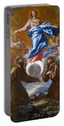 The Immaculate Conception With Saints Francis Of Assisi And Anthony Of Padua Portable Battery Charger