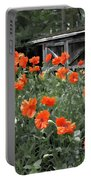 The Inspiration Of Orange Poppies Portable Battery Charger