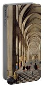 The Interior Of A Gothic Church Portable Battery Charger by Hendrik the Younger Steenwyck