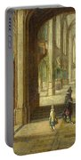 The Interior Of A Gothic Church Looking East Portable Battery Charger