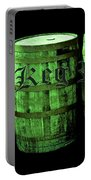 The Keg Room 3 Green Barrels Old English Hunter Green Portable Battery Charger