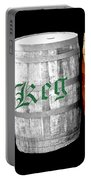 The Keg Room Irish Flag Colors Old English Hunter Green Wave Portable Battery Charger