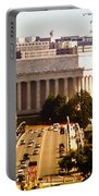 The Key Bridge And Lincoln Memorial Portable Battery Charger