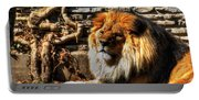 The King Lazy Boy At The Buffalo Zoo Portable Battery Charger