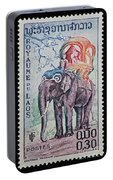 The King's Elephant Vintage Postage Stamp Print Portable Battery Charger