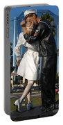 The Kiss - Sailor And Nurse - Sarasota  Portable Battery Charger