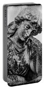 The Lady In Mourning 03 Bw Portable Battery Charger