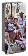The Laissez Boys At Running Of The Bulls In New Orleans Portable Battery Charger