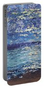 The Lake On A Cloudy Day In October Portable Battery Charger