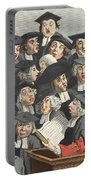 The Lecture, Illustration From Hogarth Portable Battery Charger