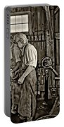 The Lesson Sepia Portable Battery Charger by Steve Harrington