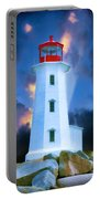 The Lighthouse At Peggys Cove Portable Battery Charger