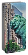 The Lions Of Chicago Portable Battery Charger