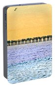 The Long Pier - Art By Sharon Cummings Portable Battery Charger