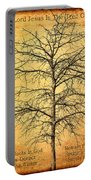 The Lord Jesus Is The Tree Of Life Portable Battery Charger