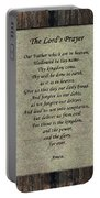 The Lord's Prayer Portable Battery Charger
