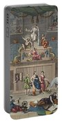 The Lottery, Illustration From Hogarth Portable Battery Charger