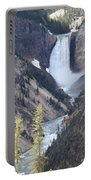 The Lower Falls Of Yellowstone River Portable Battery Charger