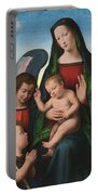 The Madonna And Child With The Young Saint John The Baptist And An Angel  Portable Battery Charger