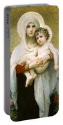 The Madonna Of The Roses Portable Battery Charger