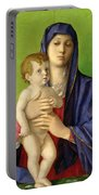 The Madonna Of The Trees Portable Battery Charger by Giovanni Bellini