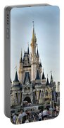 The Magic Kingdom Castle On A Beautiful Summer Day Portable Battery Charger
