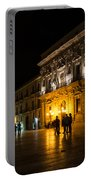 The Magical Duomo Square In Ortygia Syracuse Sicily Portable Battery Charger