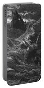 The Mariner As His Ship Is Sinking Sees The Boat With The Hermit And Pilot Portable Battery Charger by Gustave Dore