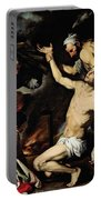 The Martyrdom Of Saint Lawrence Portable Battery Charger by Jusepe de Ribera
