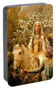 The Maying Of Queen Guinevere Portable Battery Charger