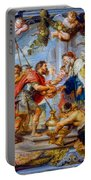The Meeting Of Abraham And Melchizedek Portable Battery Charger