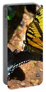 The Meeting Of The Butterflies Portable Battery Charger