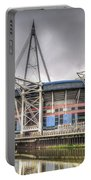 The Millennium Stadium With Flag Portable Battery Charger