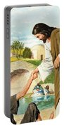 The Miracles Of Jesus  Making The Lame Man Walk Portable Battery Charger