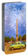 The Monument's Parking Lot Digital Art By Cathy Anderson Portable Battery Charger