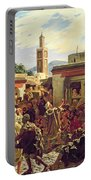 The Moroccan Storyteller Portable Battery Charger by Alfred Dehodencq