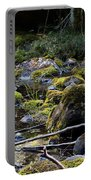 The Moss In The River Stones Portable Battery Charger