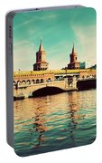 The Oberbaum Bridge In Berlin Germany Portable Battery Charger
