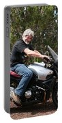 The Old Man On The Motorcycle Portable Battery Charger