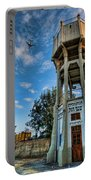 The Old Water Tower Of Tel Aviv Portable Battery Charger by Ron Shoshani
