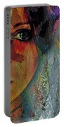 The Other Left Abstract Portrait Portable Battery Charger