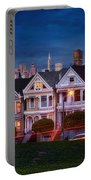 The Painted Ladies Of San Francsico Portable Battery Charger