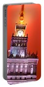 The Palace Of Culture And Science Warsaw Poland  Portable Battery Charger by Michal Bednarek