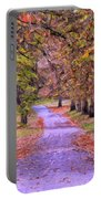 The Park In Autumn Portable Battery Charger