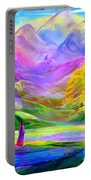 Misty Mountains, Fall Color And Aspens Portable Battery Charger