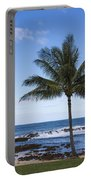 The Perfect Palm Tree - Sunset Beach Oahu Hawaii Portable Battery Charger