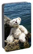 The Philosopher - Teddy Bear Art By William Patrick And Sharon Cummings Portable Battery Charger