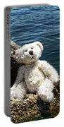 The Philosopher - Teddy Bear Art By William Patrick And Sharon Cummings Portable Battery Charger by Sharon Cummings