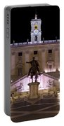 The Piazza Del Campidoglio At Night Portable Battery Charger